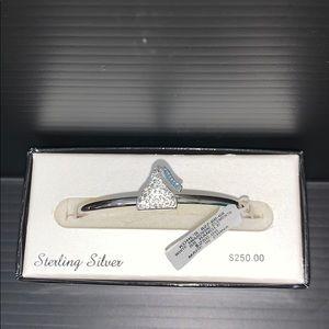 Sterling Silver Hershey's Kiss Swarovski Bangle